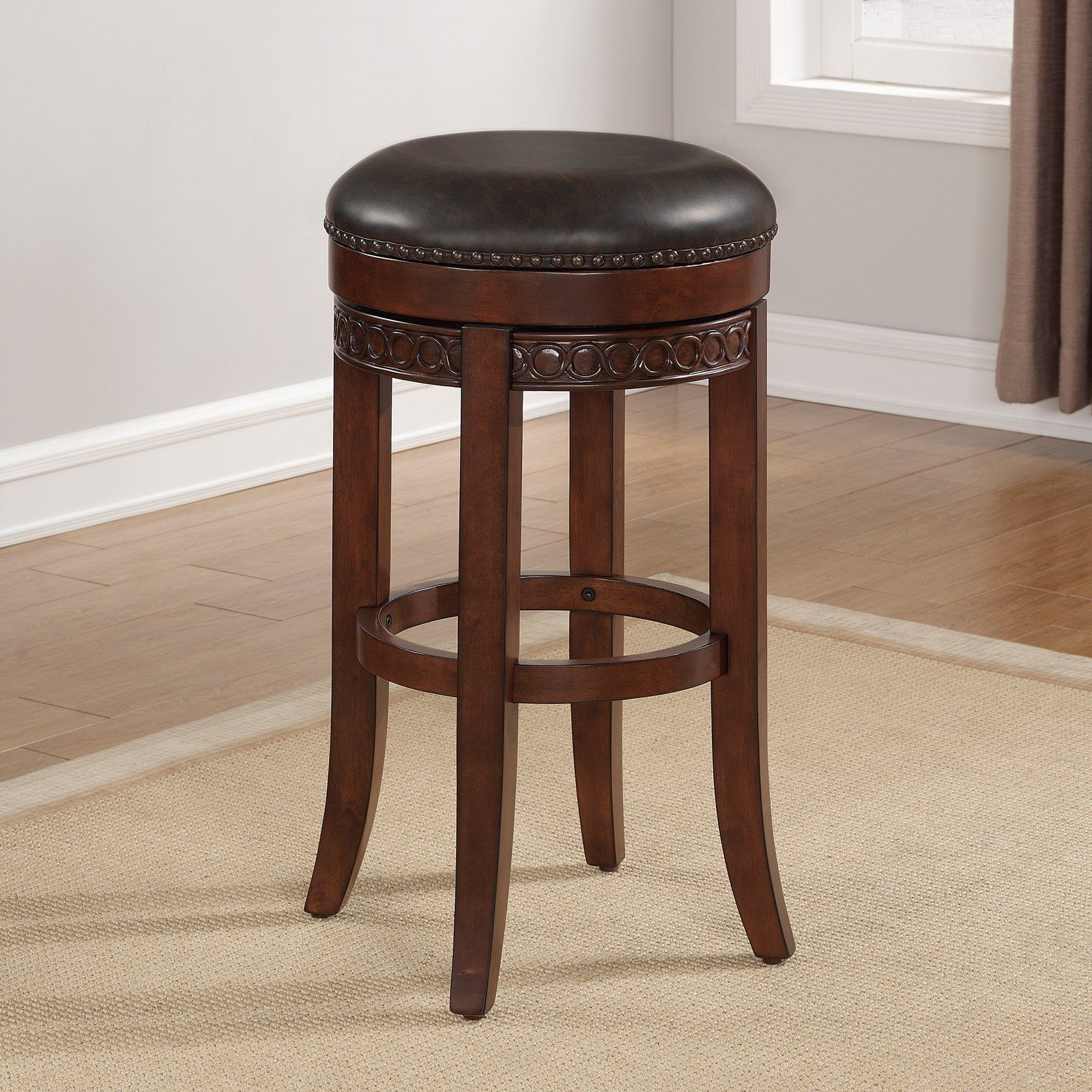 American Woodcrafters Conrad Backless Swivel Tall Bar Stool From