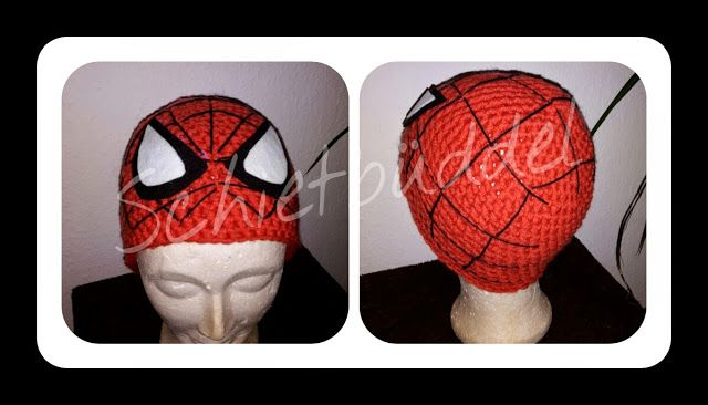 Schietbüddel: Spiderman Mütze | Häkeln | Pinterest | Spiderman ...