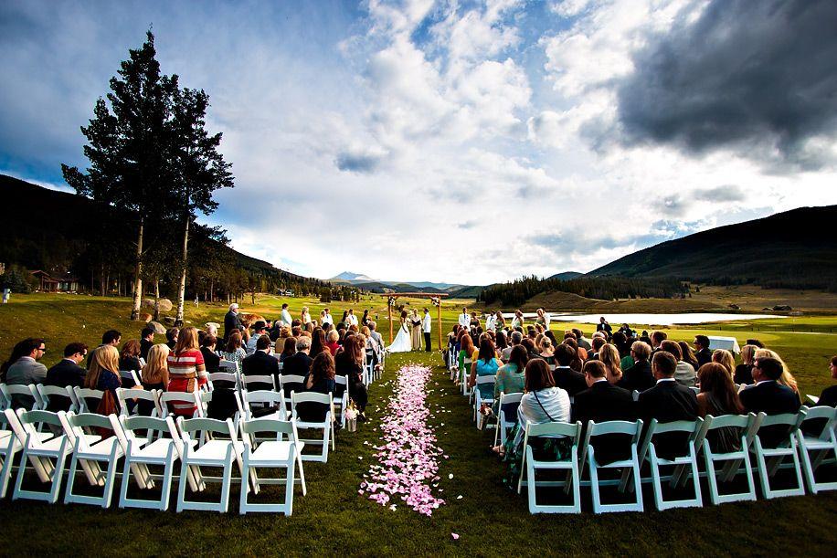 Vows Exchanged Looking South Keystone Ranch Wedding Colorado