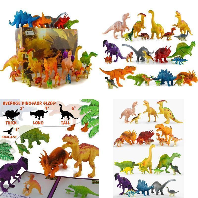 24 Jurassic Dinosaur Toys For 3 7 year old Boys Girls Toddlers Kids 6 4 5