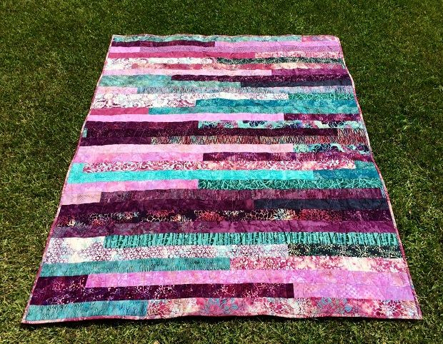 Quilt #3 – Jelly Roll Race Quilt. Amazing batik quilt, but join at ... : batik jelly roll quilt - Adamdwight.com