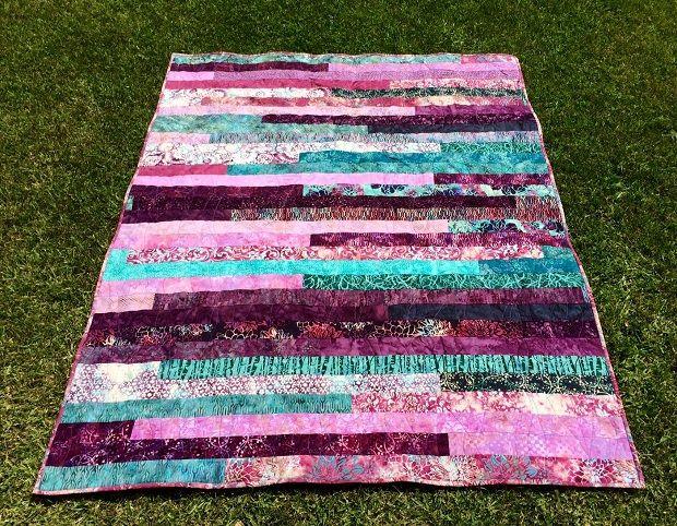 Quilt #3 – Jelly Roll Race Quilt. Amazing batik quilt, but join at ... : jelly roll race quilt pattern - Adamdwight.com