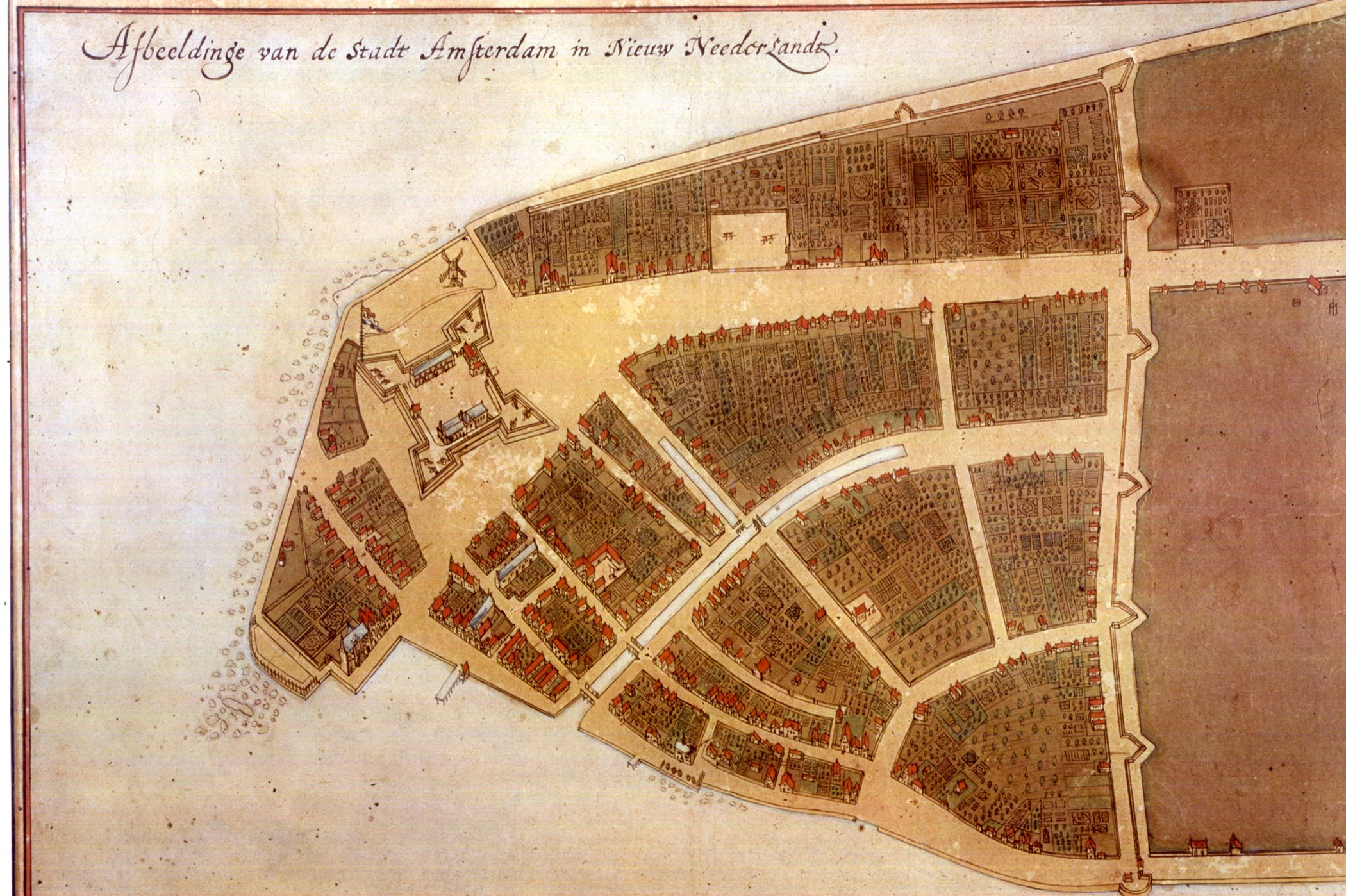 Archaeology CastelloPlanOriginal New Amsterdam Wikipedia