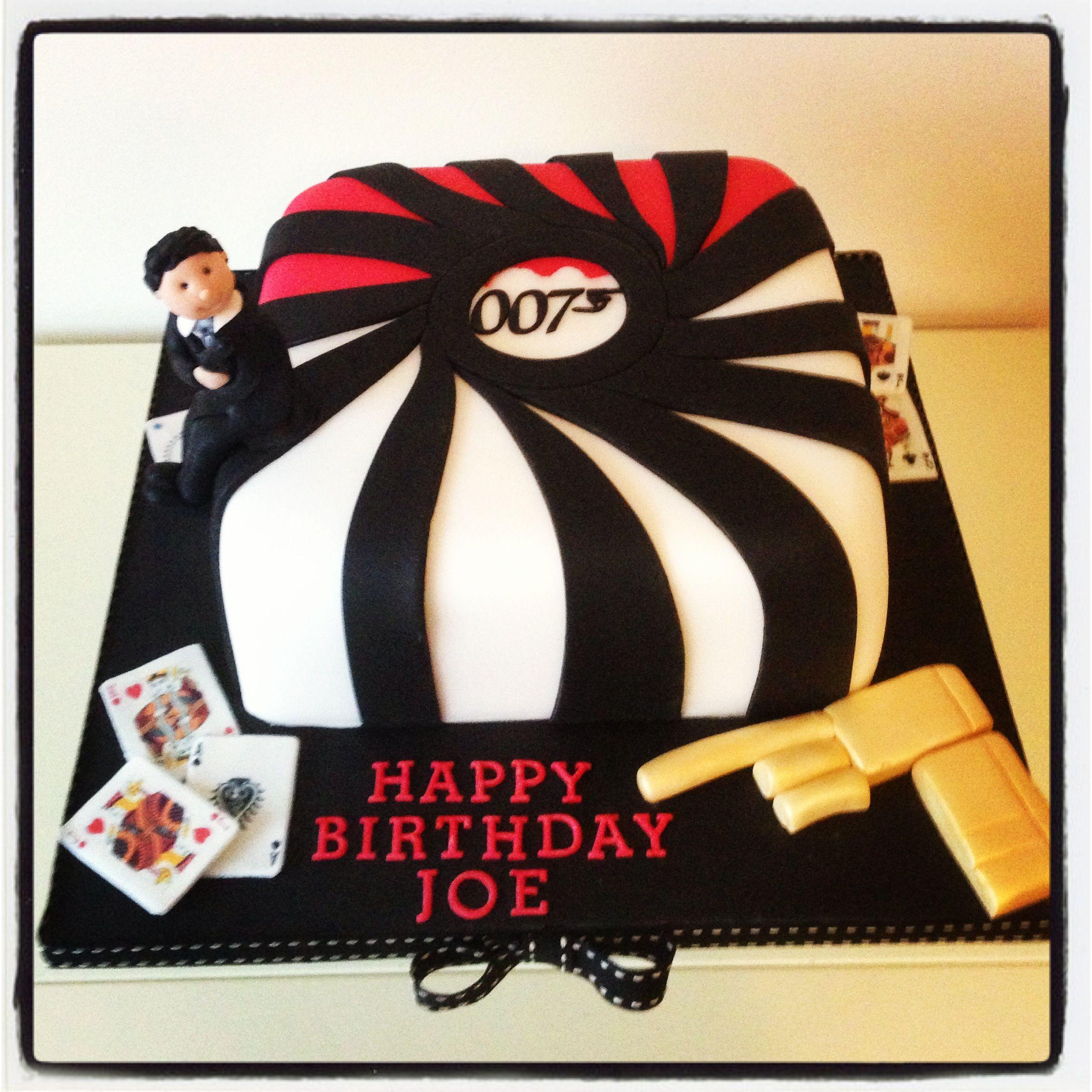 James Bond 007 Themed Birthday Cake From Www Somethingfancy Co Uk