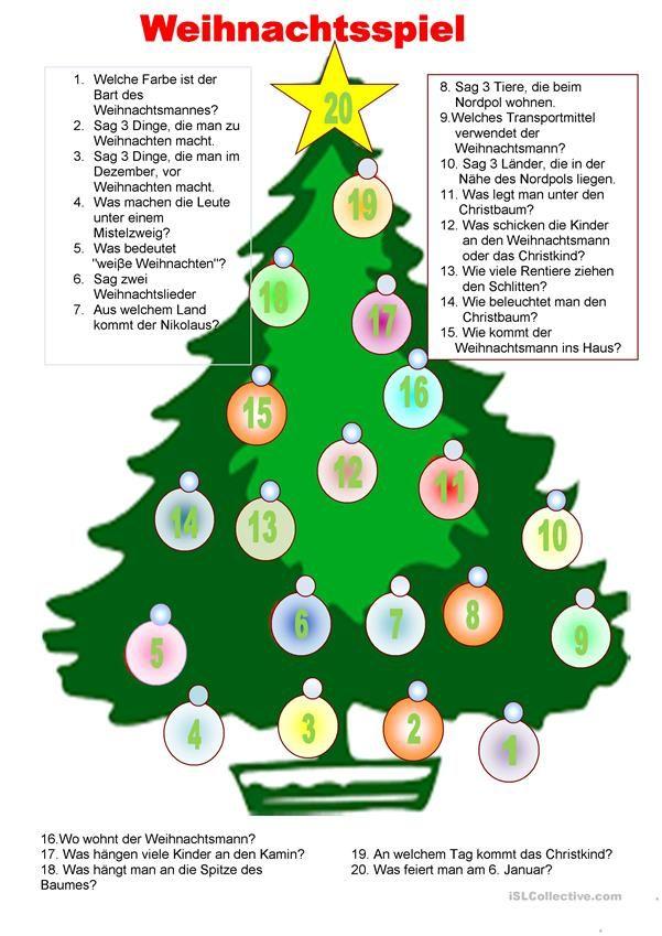 Brettspiel - Weihnachten | DEUTSCH | Pinterest | Weihnachten ...