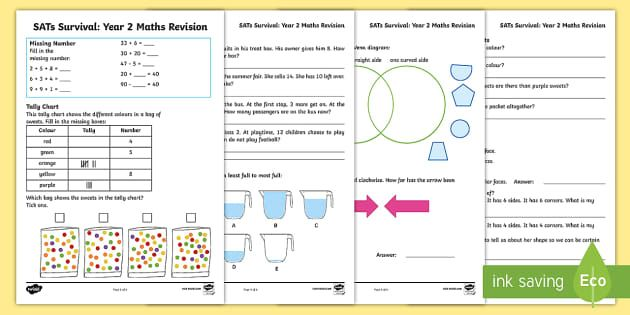 These Useful Year 2 Sats Revision Sheets Contain A Series Of Short Maths Problems And Questions To Help Your Children With Images Sats Practices Worksheets Math Assessment Sat math practice worksheets pdf
