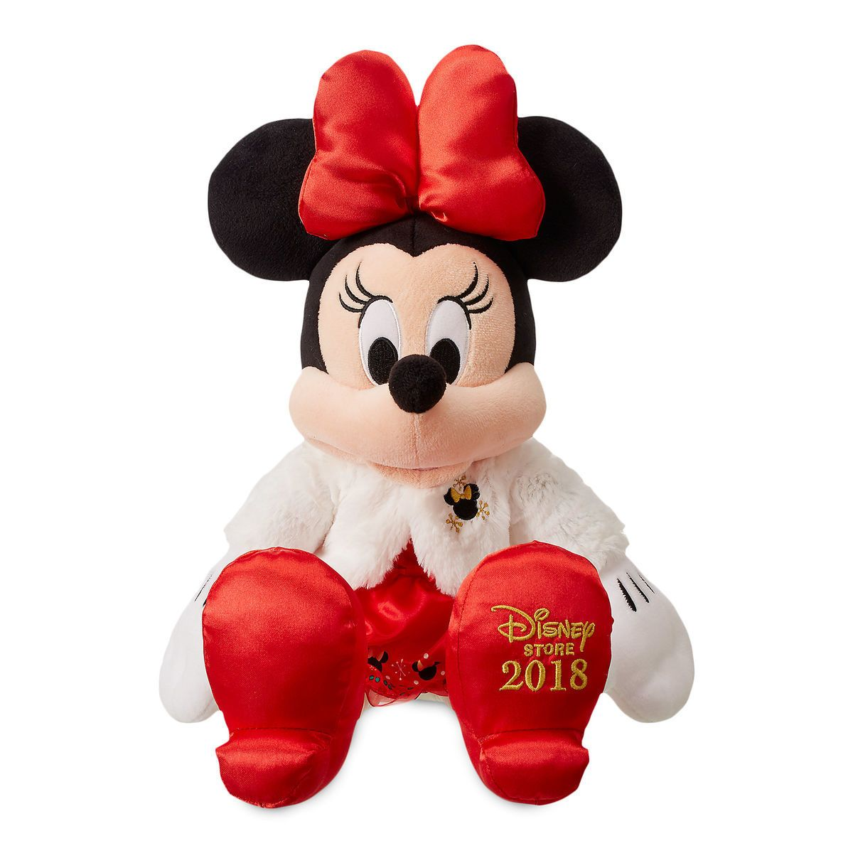 Christmas Minnie Mouse Plush.Minnie Mouse Holiday Plush Medium Christmas Town