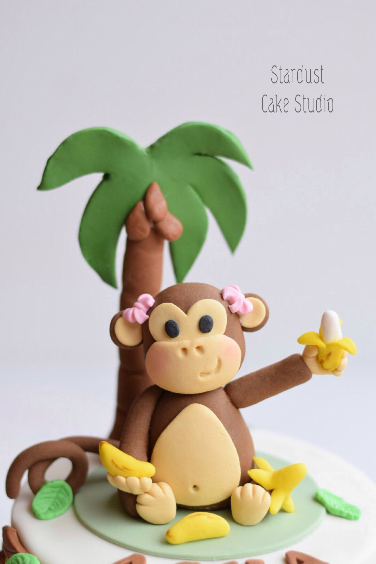 Monkey Cake Topper Fondant Cake Toppers Animal Cake Topper Monkey Cake