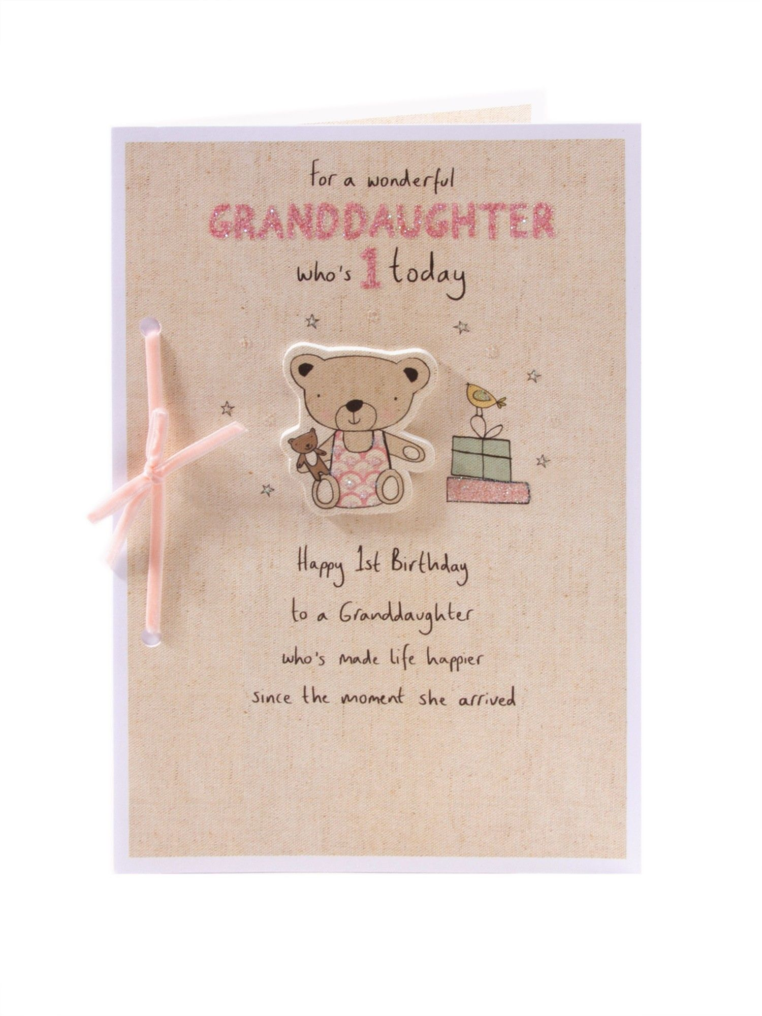 Little Bear 1st Birthday Card For Granddaughter Mya Pinterest