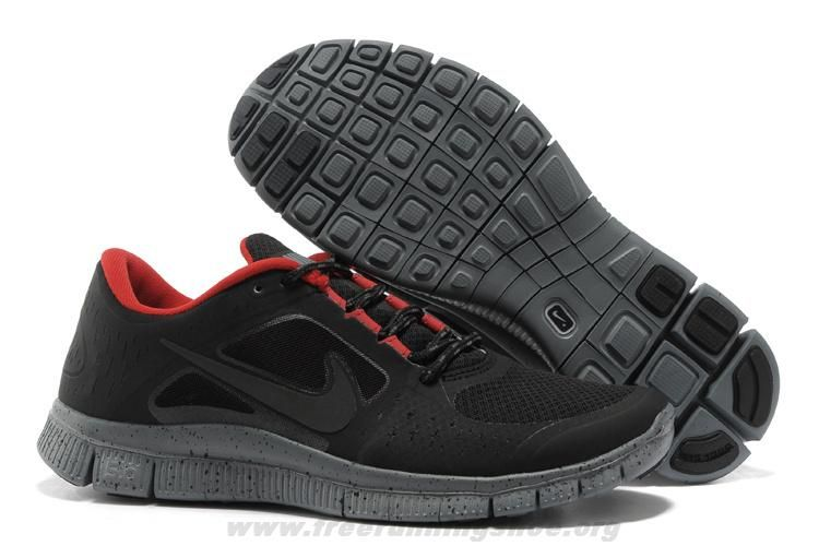 574249 006 mens nike free run 3 blackout red for sale