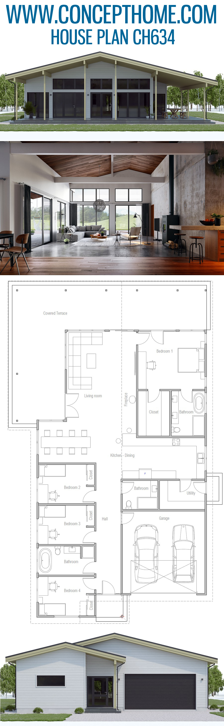 House Plan Ch634 Small House New House Plans Small House Plan
