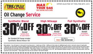 Tires Plus Coupon February 2013 Oil Change Printable