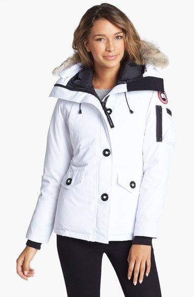 85670a9fd8e CANADA GOOSE  Montebello  Slim Fit Down Parka With Genuine Coyote Fur Trim.   canadagoose  cloth