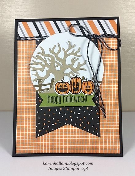 I got my idea for this fun Halloween card from the 2016 Holiday - halloween catalog