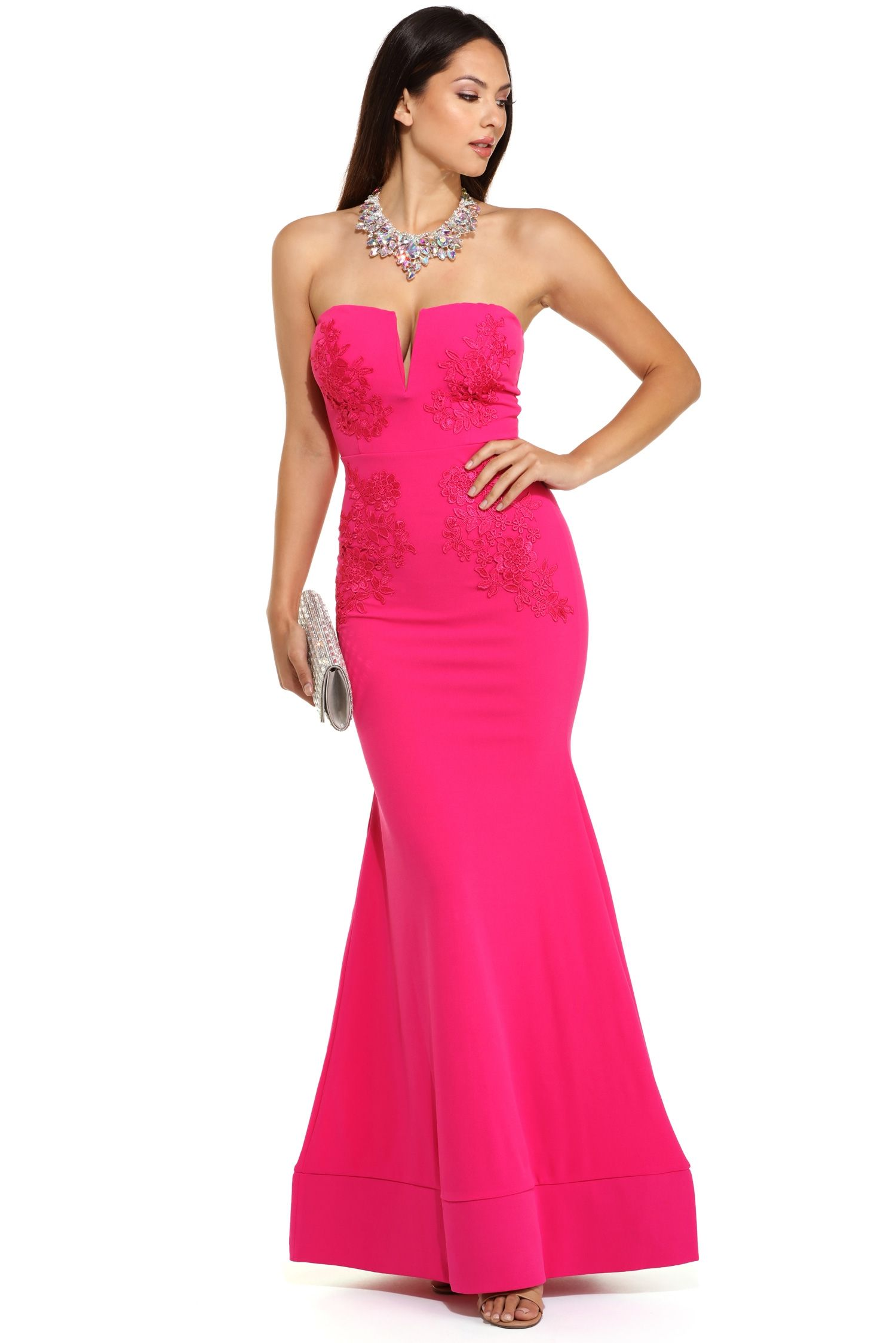 Macy Pink Applique Formal Gown | Windsor | Pinterest | Formal gowns ...