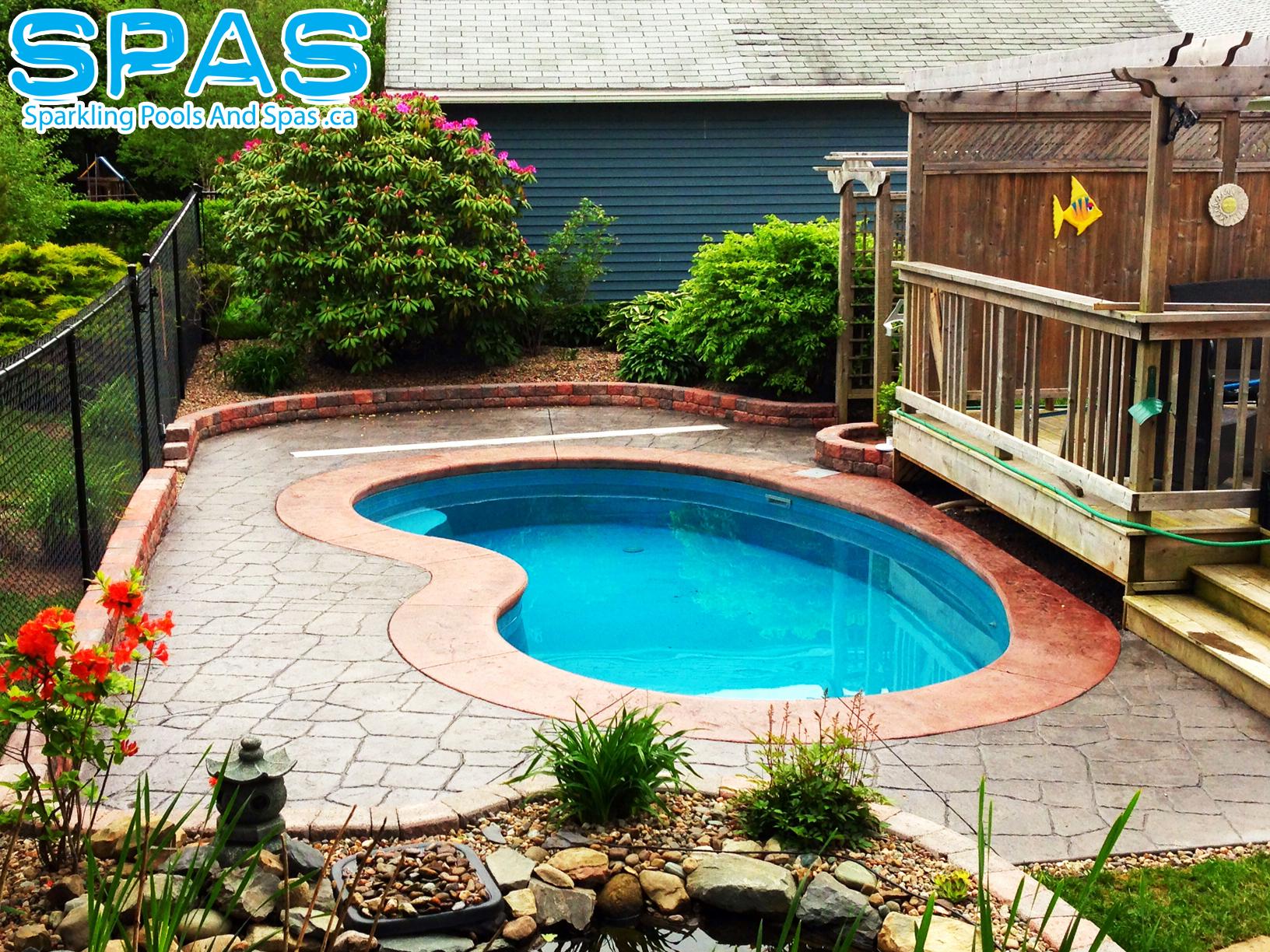 Petite trilogy fiberglass inground pool it is a jewel in the