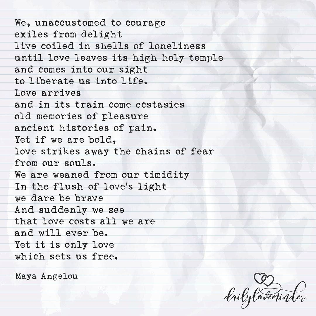 Touched By An Angel By Maya Angelou