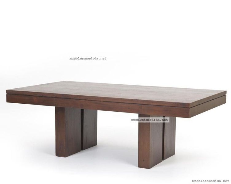 Mesa de comedor estilo banco muebles a medida replicas - Medidas mesas de comedor ...