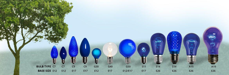 christmas light bulb size