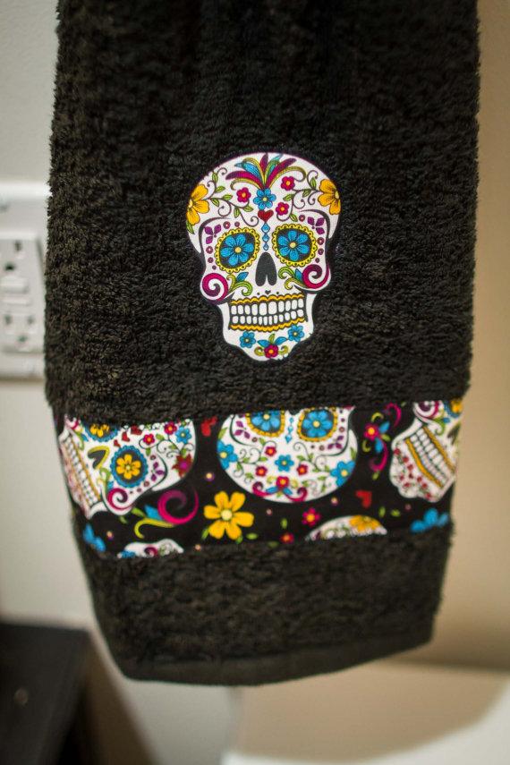 New Custom Bathroom Decor Shower Curtain By Emsblanketstatement Curtainsugar Skull