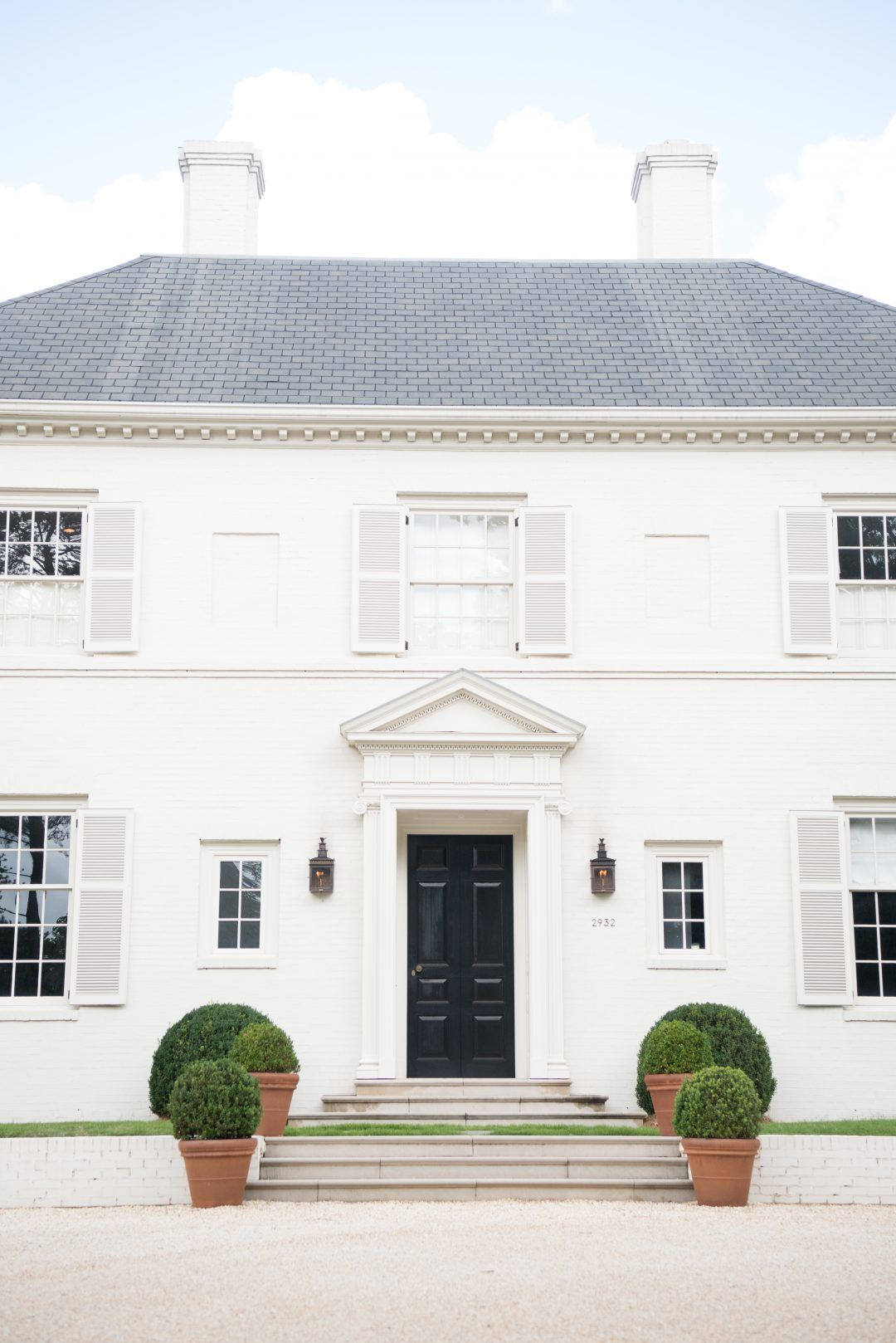The Art Of The Entry Classic White Lavin Label White Exterior Houses House Exterior Facade House
