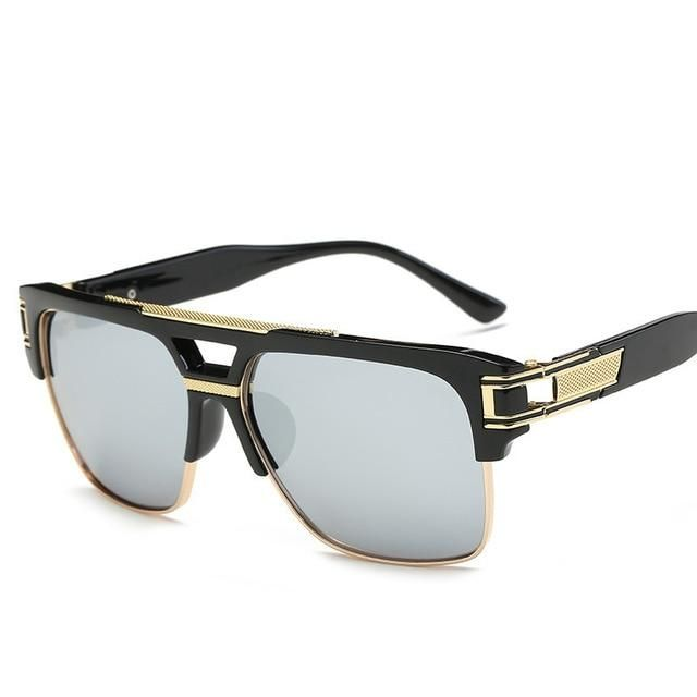 c3ee7cd371 High Quality Square Sunglasses Men Brand Design Retro Sun Glasses For Men  Male Sunglasses Shades Lunettes de soleil Homme UV400