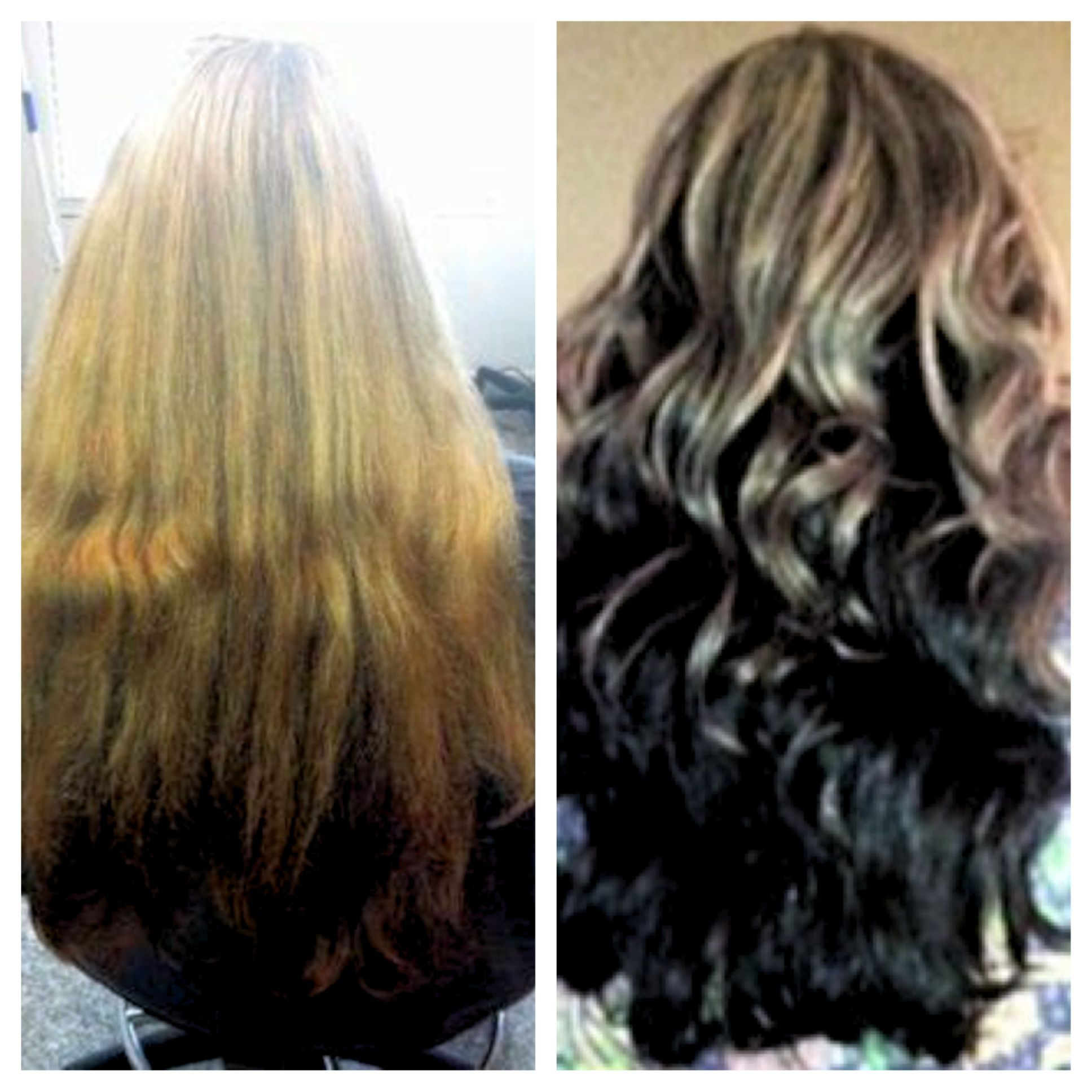 Before After Dimensional Color Highlights Lowlights Brown