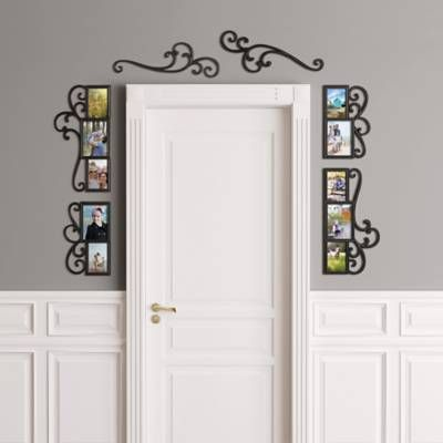 Wallverbs 6 Piece Over The Door Scroll Photo Frame Set In Black Large Picture Frames Mirror Wall Art Painted Picture Frames