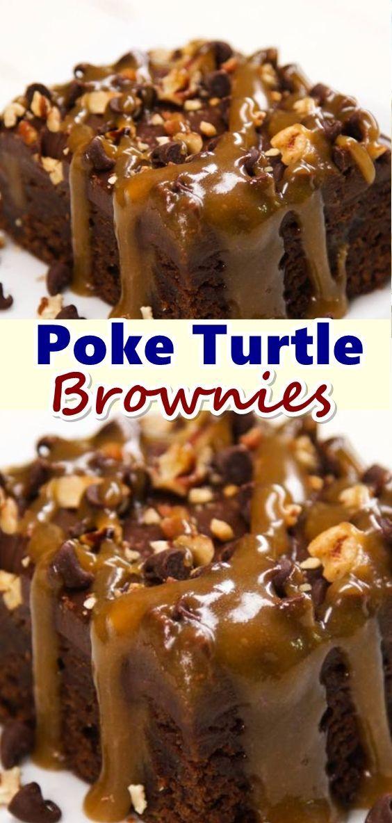 Poke Turtle Brownies Lets Eat