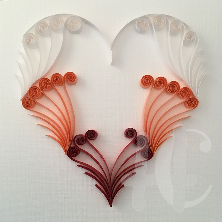 Quilling heart quilling card pinterest quilling for Quilling heart designs
