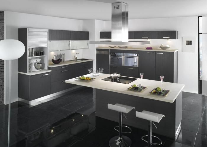 Beaujard Agencement  cuisines-bains TEISSA - Sealise Grise