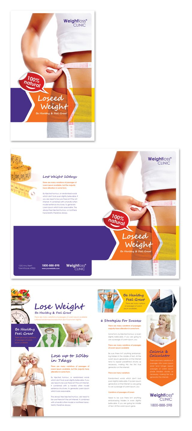 Weight Loss Clinic Brochure Template http://www.dlayouts.com ...