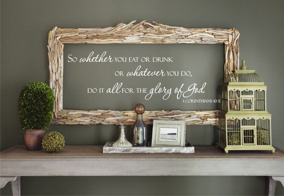 Whatever You Do Do All For The Glory Of God 1 Corinthians Etsy Decor Benjamin Moore Colors Best Paint Colors