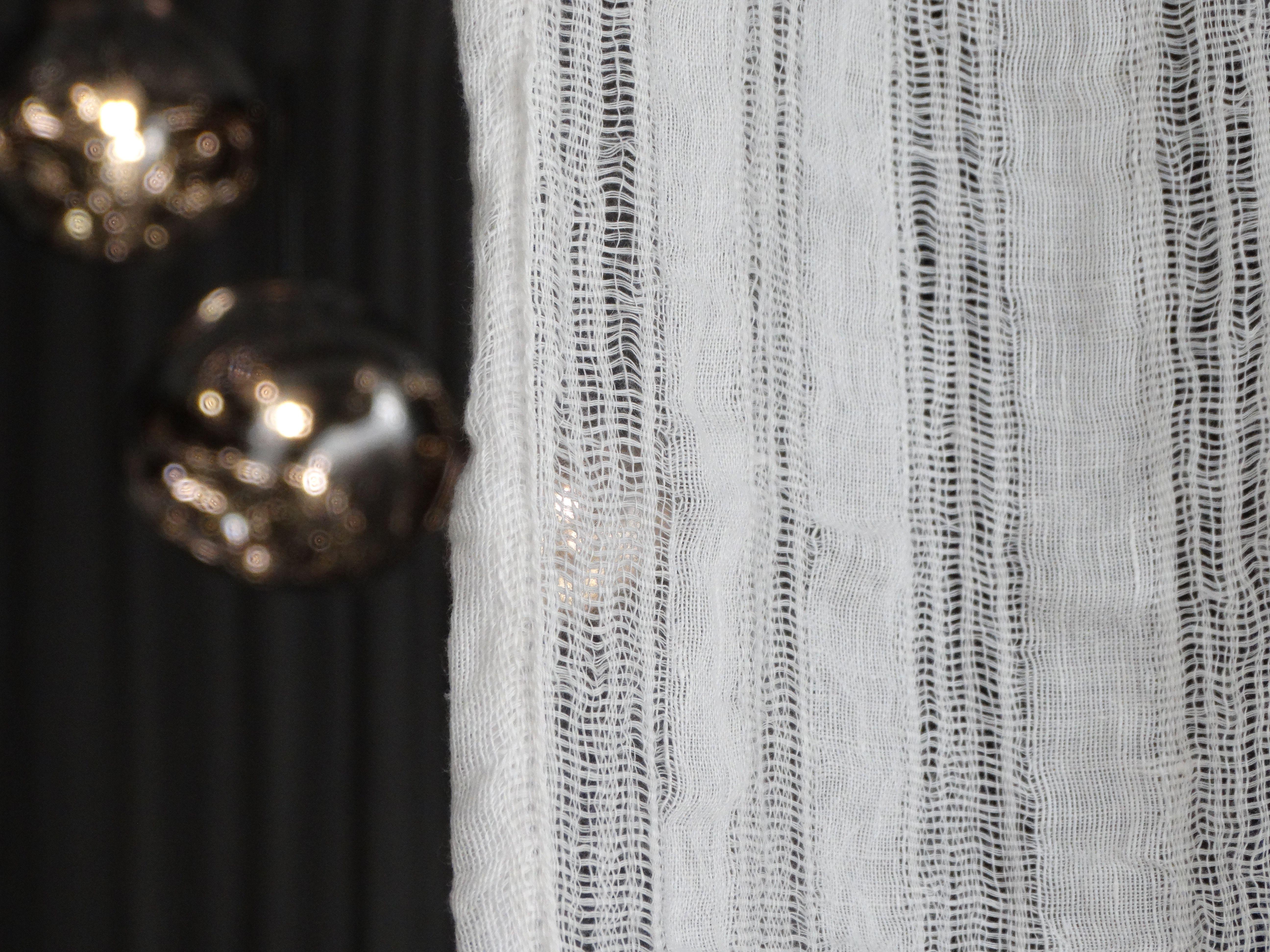 Rideaux sur mesure en voile de lin effil grande largeur 300 cm rideaux sur mesure pinterest for Rideaux en voile
