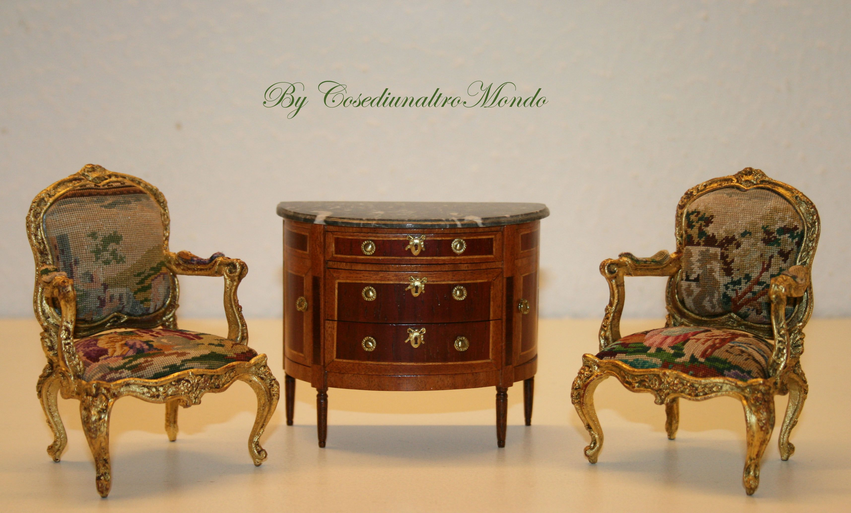 handmade miniature furniture, 1/12 scale for dolls' house
