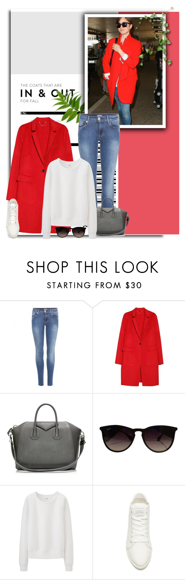 """""""792"""" by melanie-avni ❤ liked on Polyvore featuring True Religion, Violeta by Mango, Givenchy, Ray-Ban, Uniqlo and Marc by Marc Jacobs"""