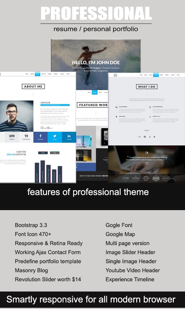 professional resume portfolio html template professional resume