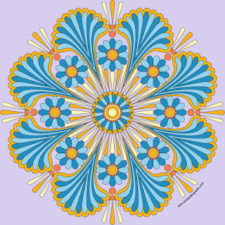Happy Mandala With A Blank Version To Print And Color Adult Coloring PagesFree ColoringColouringMandalas