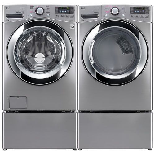 Take The Chore Out Of Laundry With The Help Of This Lg Washer And Dryer Combo It Comes With An Lg 5 2 Cu Ft High With Images Steam Washer Lg Washer