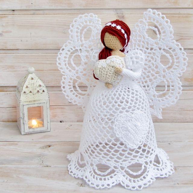 Самые красивые ажурные ангелы крючком | вязание САЛФЕТКИ... ПЛЕДЫ ...