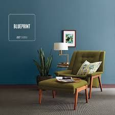 Image result for blueprint behr paint   Green couch blue ...