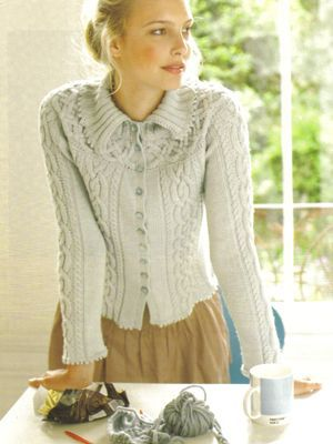 Cable Band Cardigan Knitting Pinterest Cable Knitting