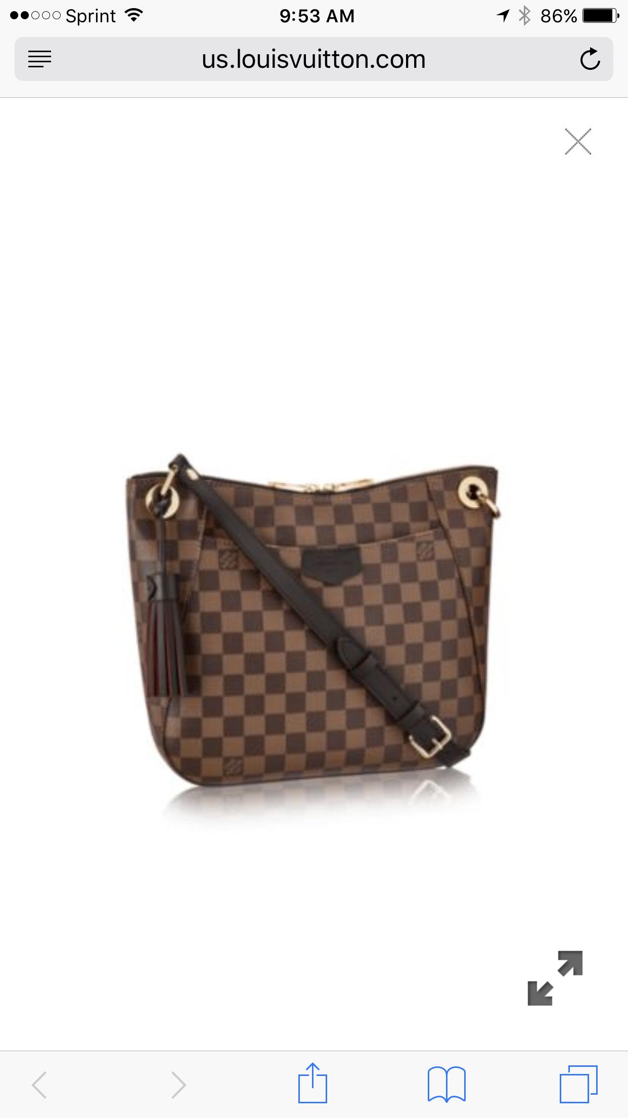 bbfee0d4eba00 Louis Vuitton South Bank Besace Winter Wear, Louis Vuitton Damier, Hand Bags,  Wallets