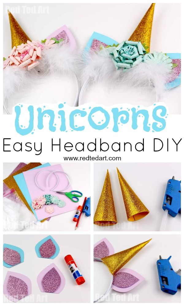 Unicorn Headband DIY - Red Ted Art #unicorncrafts