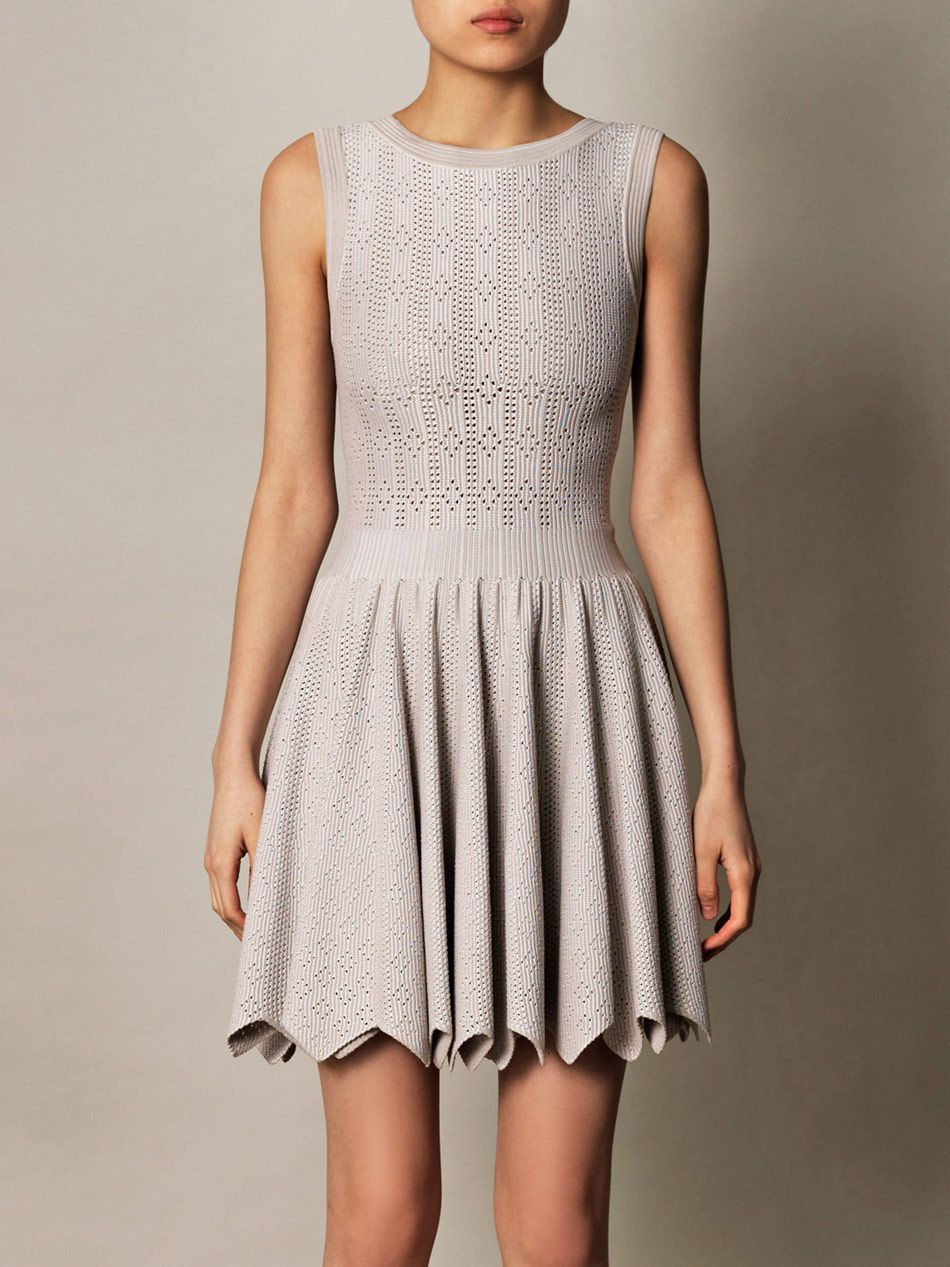 Azzedine Ala A Mantile Perforated Zigzag Dress For Women