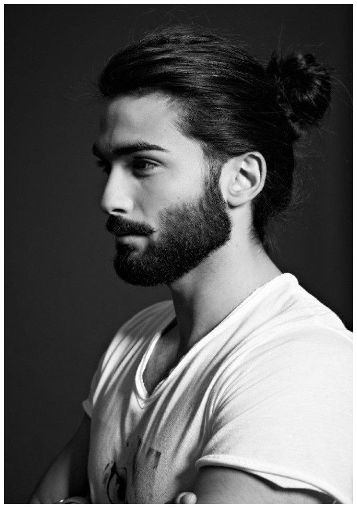 Haircut Styles For Men With Curly Hair Trendinghaircutsformen Click The Image Now For More In Long Hair Styles Men Beard Styles For Men Man Bun Hairstyles