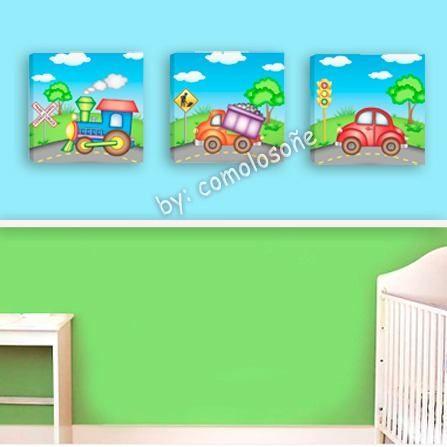 Cuadros infantiles para decorar dormitorios infantiles x3 - Dormitorios infantiles modernos ...