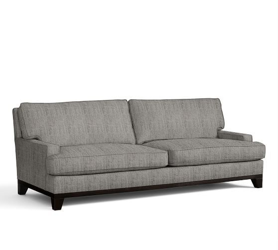 Seabury Upholstered Grand Sofa Down Blend Wred Cushions Twill Parchment