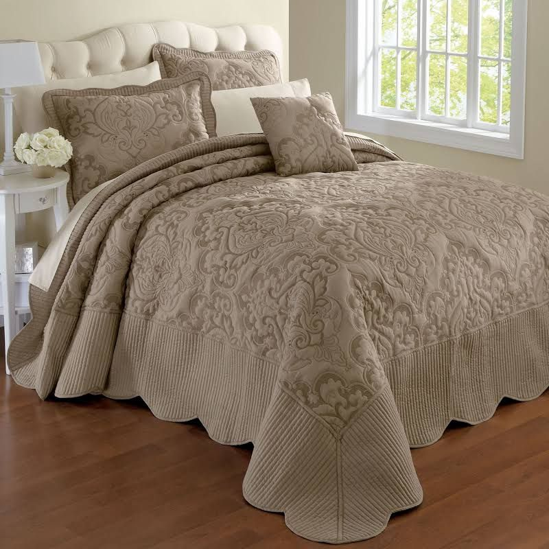 Taupe Bedspread King Google Search Bed Linens Luxury Blue Bedroom Bed Spreads Bedspreads for king size beds