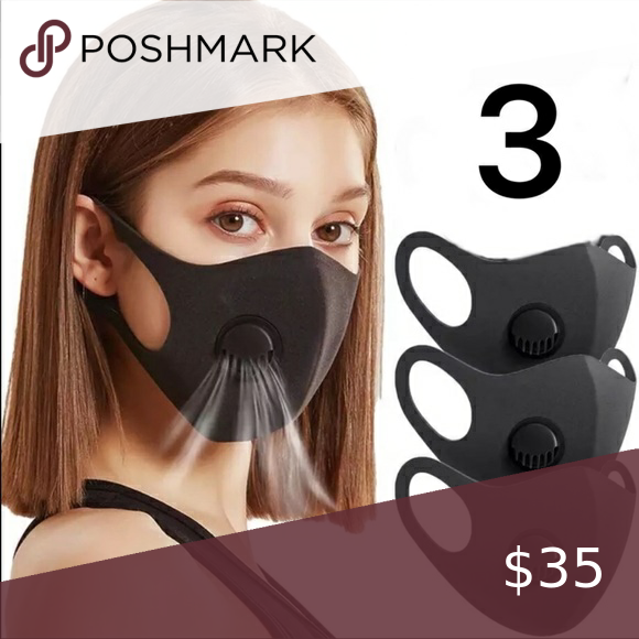 3 FOR $35 - BLACK MASK WITH FILTER In 2020